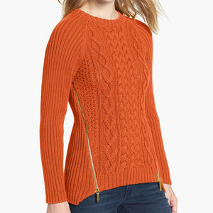 Michael Kors Side Zip Cable Knit Sweater